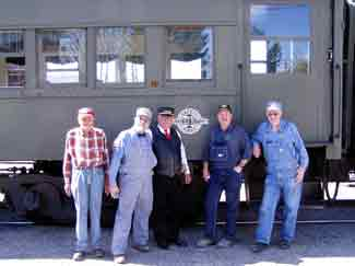 Excursion train volunteer crew