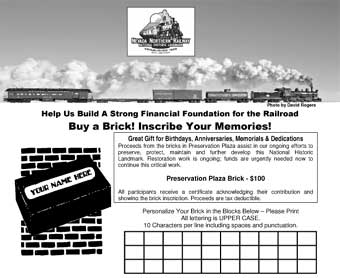 Purchase a brick in Preservation Plaza